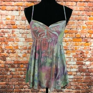 Anthropologie pins and needles floral tank M